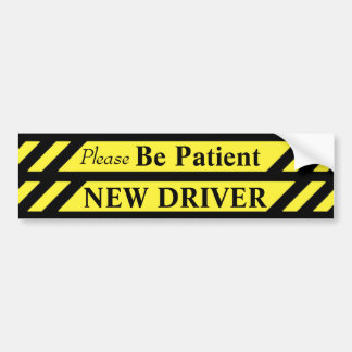 Patience New Driver Bumper Sticker