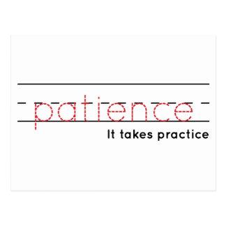 patience | Practice Postcard
