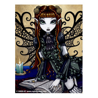 Patience Reading Fairy Tale Gothic Fairy Postcard