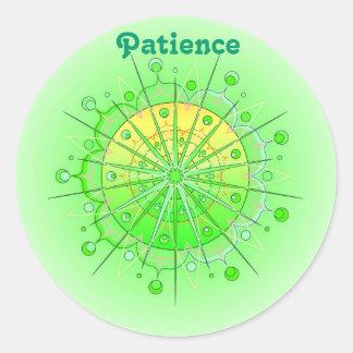 Patience (Virtue stiker) Round Sticker