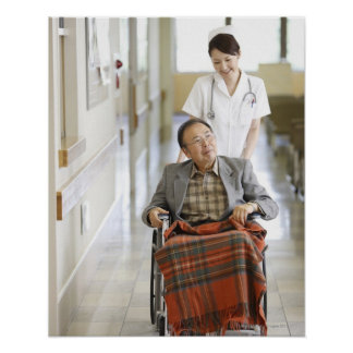 Patient and nurse poster