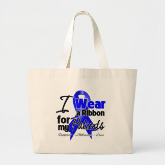 Patients - Colon Cancer Ribbon Tote Bag