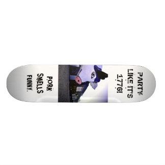 Patin ou porc ? plateaux de skateboards