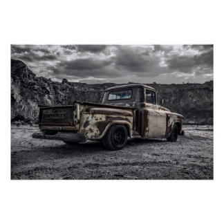 Patina 1956 Chevrolet C10 customized pick-up truck Poster