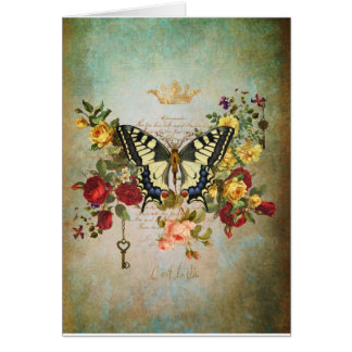 Patina and Butterfly Card