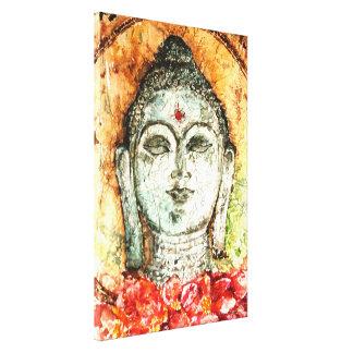 Patina Bali Buddha Watercolor Canvas Print 17x25