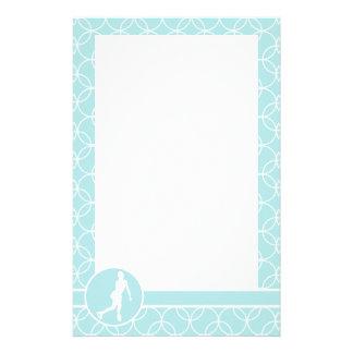 Patinage artistique Cercles de bleus layette Papier À Lettre Personnalisé