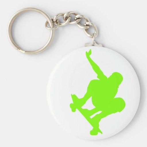 Patineur vert Chartreuse et au néon Porte-clés