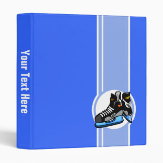 Patins d'hockey ; Bleu Classeur Vinyle