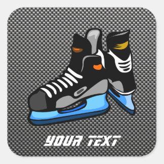 Patins d'hockey de fibre de carbone de Faux Sticker Carré