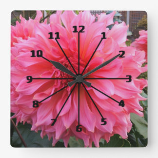 Patio Dahlia Clock