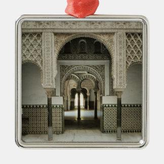 Patio de las Munecas, 12th-14th century Silver-Colored Square Ornament