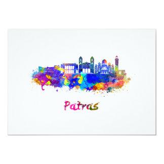 Patras skyline in watercolor card