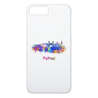 Patras skyline in watercolor iPhone 8 plus/7 plus case
