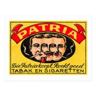 Patria Tabak Postcard