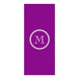"""Patriarch Purple High End Colored 4"""" X 9.25"""" Invitation Card"""