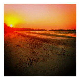 Patricia Beach Sunset Poster