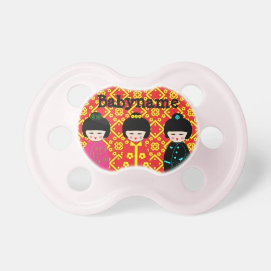 Patriciapotluck blessedbabynyc Asian doll pacifier