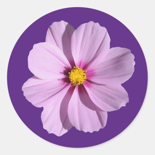 Patriciapotluck purple petals circular stickers