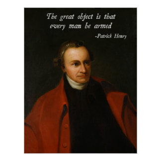 Patrick Henry Right to Bear Arms Poster