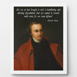 Patrick Henry Second Amendment Plaque