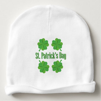 Patrick's Day with clover Baby Beanie