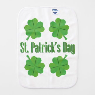 Patrick's Day with clover Burp Cloth