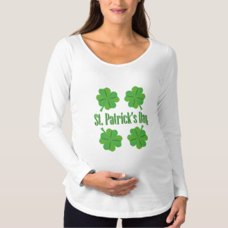 Patrick's Day with clover Maternity T-Shirt