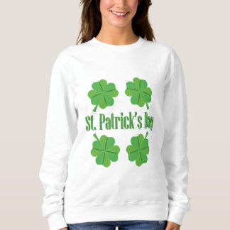 Patrick's Day with clover Sweatshirt