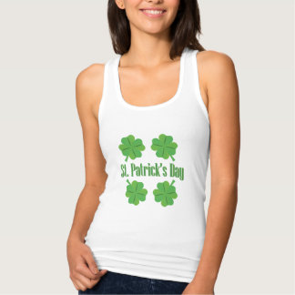 Patrick's Day with clover Tank Top