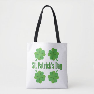 Patrick's Day with clover Tote Bag
