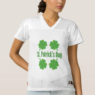 Patrick's Day with clover Women's Football Jersey