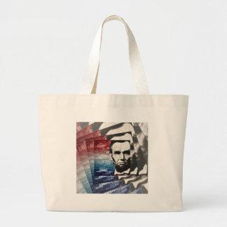 Patriot Abraham Lincoln Large Tote Bag