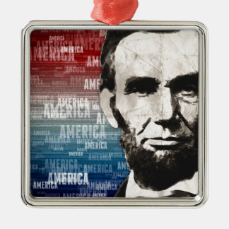 Patriot Abraham Lincoln Metal Ornament