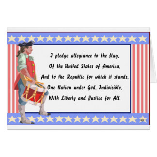 Patriot and Pledge of Allegiance Logo Card