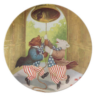 Patriot Bears Ring the Liberty Bell Party Plates