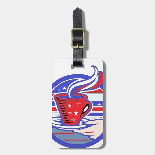 Patriot Coffee Travel Bag Tags