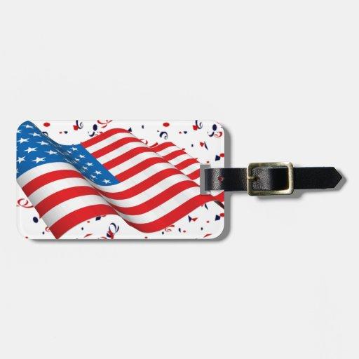 Patriot Confetti Luggage Tags