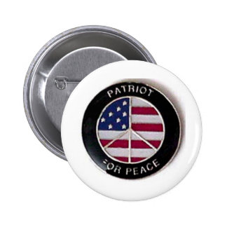 Patriot For Peace 2 Inch Round Button