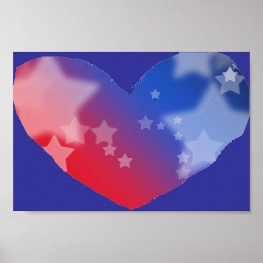 Patriot Heart Print