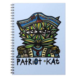 """Patriot Kat"" Spiral Notebook"