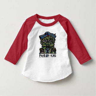 """Patriot Kat"" Toddler Raglan T-Shirt"