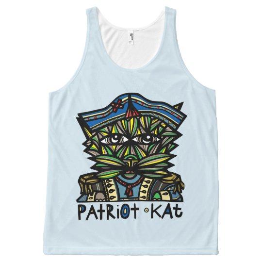 """""""Patriot Kat"""" Unisex Tank Top"""