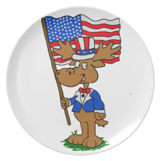 Patriot Moose Plate