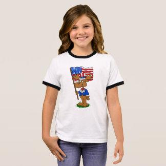 Patriot Moose Ringer T-Shirt
