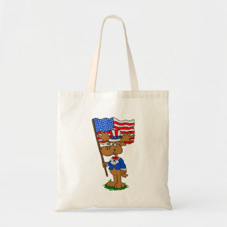 Patriot Moose Tote Bag