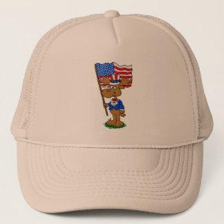 Patriot Moose Trucker Hat