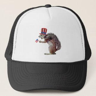 Patriot squirrel trucker hat