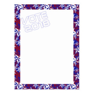 Patriot Stars VOTE 2018 postcard