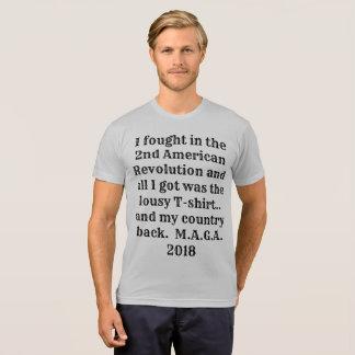 Patriot T- Shirt 2nd American Revolution MAGA